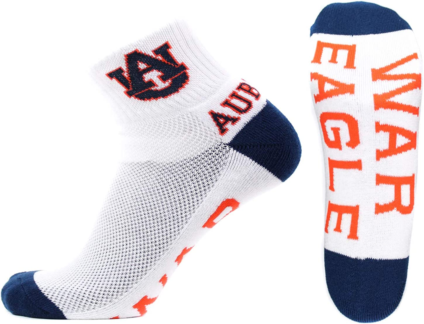 Auburn Tigers Low Cut Ankle Socks with Tab