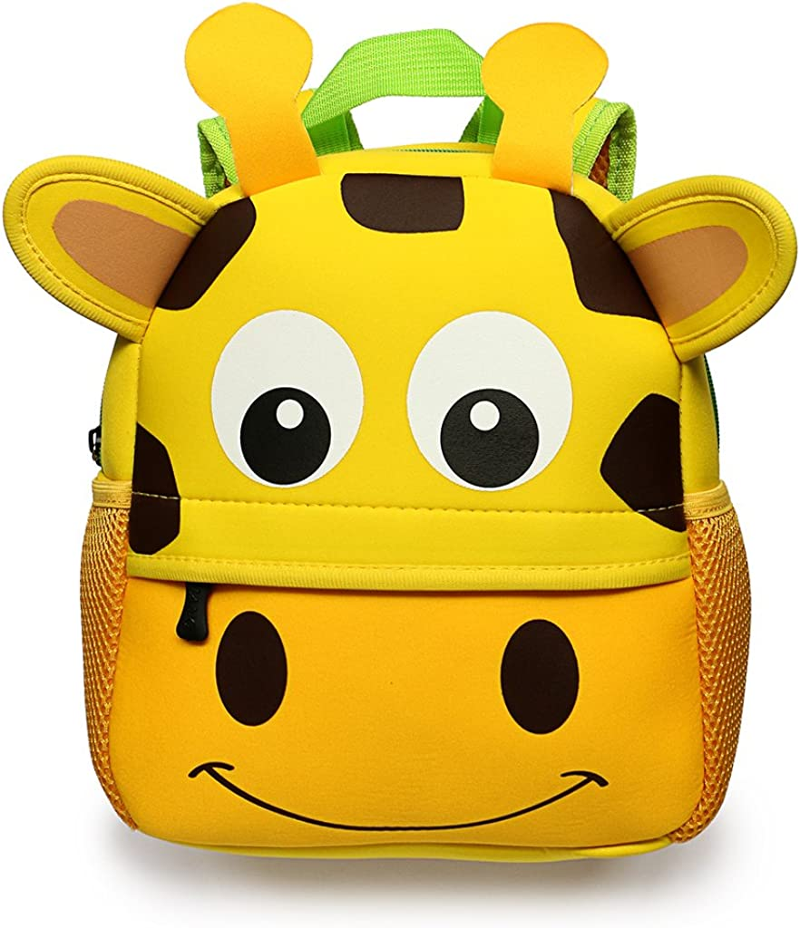 XWWS Toddler Backpack Baby Cute Book Backpack Kindergarten Backpacks for Boys Girls Cotton Baby Travel Backpacks 3D Cartoon Animal Kids School Bag