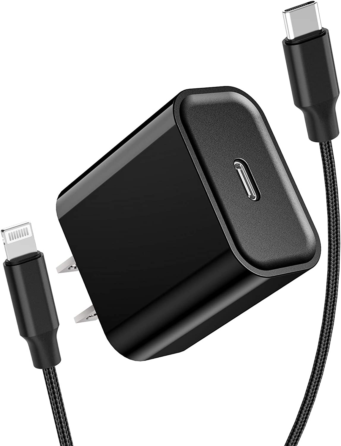 [Apple MFi Certified] iPhone Fast Charger, Stuffcool 20W Type C Power Delivery Wall Charger Plug with 6FT Nylon Braided USB C to Lightning Quick Charge Sync Cord for iPhone 12/11/XS/XR/X/iPad/AirPods