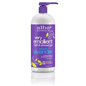 Alba Botanica Very Emollient French Lavender Bath & Shower Gel, 32 oz.