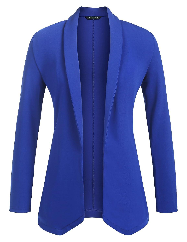 Zeagoo Womens Lightweight Open Front No-Buckle Casual Draped Tuxedo Blazer Cardigan Jacket Suits