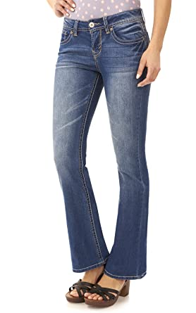 Amazon.com: WallFlower Juniors Basic Legendary Bootcut Jeans: Clothing