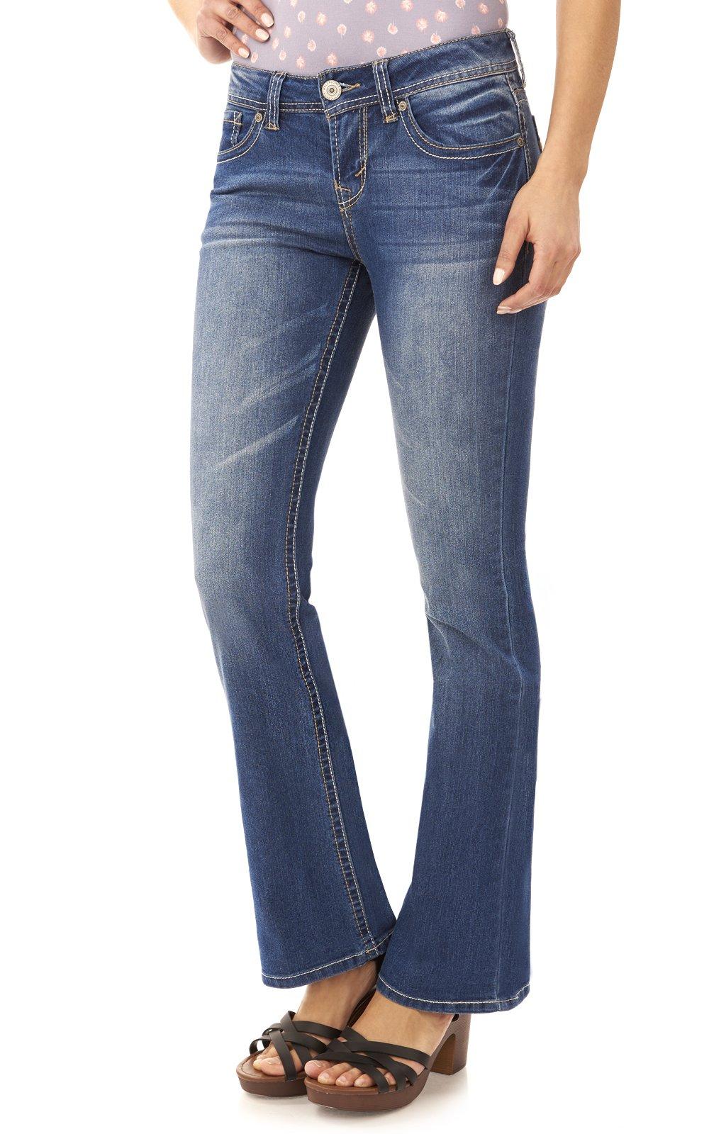 WallFlower Women's Juniors Basic Legendary Bootcut Jeans in Kristen Size: 11 Long