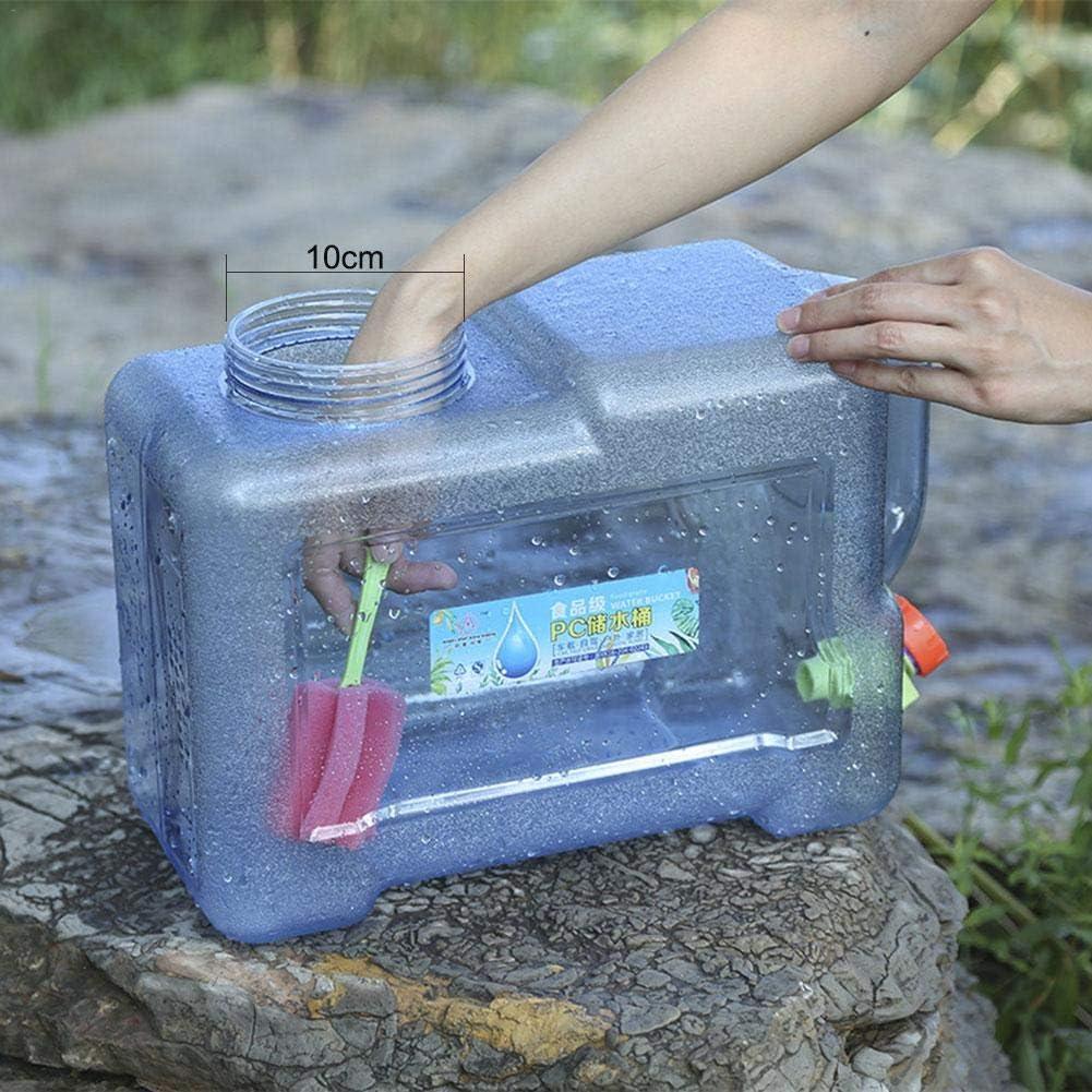 Quiet.T dep/ósito de Agua con Grifo de Drenaje dep/ósito de Agua para Beber al Aire Libre Bid/ón de Agua port/átil para Coche