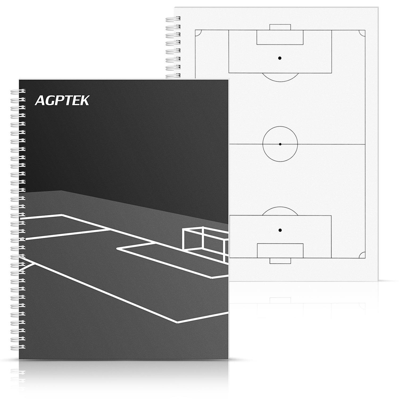 AGPtek Notizbuch des Fußballs Hilfe Trainings Notizbuch Trainer football- schwarz + weiß NB2-EU