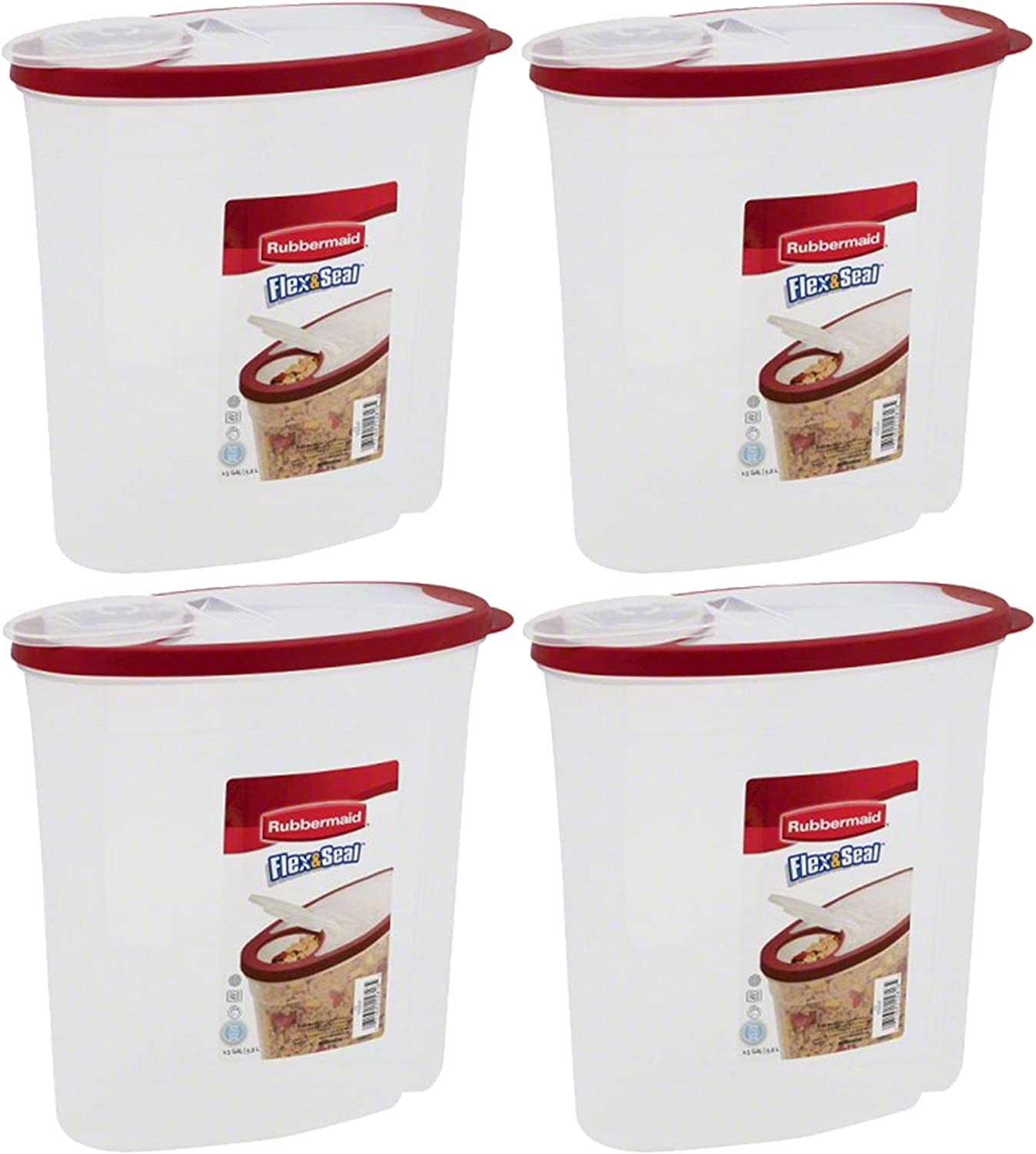 Rubbermaid Modular Cereal Keeper 1.5 Gal, 4-Pack