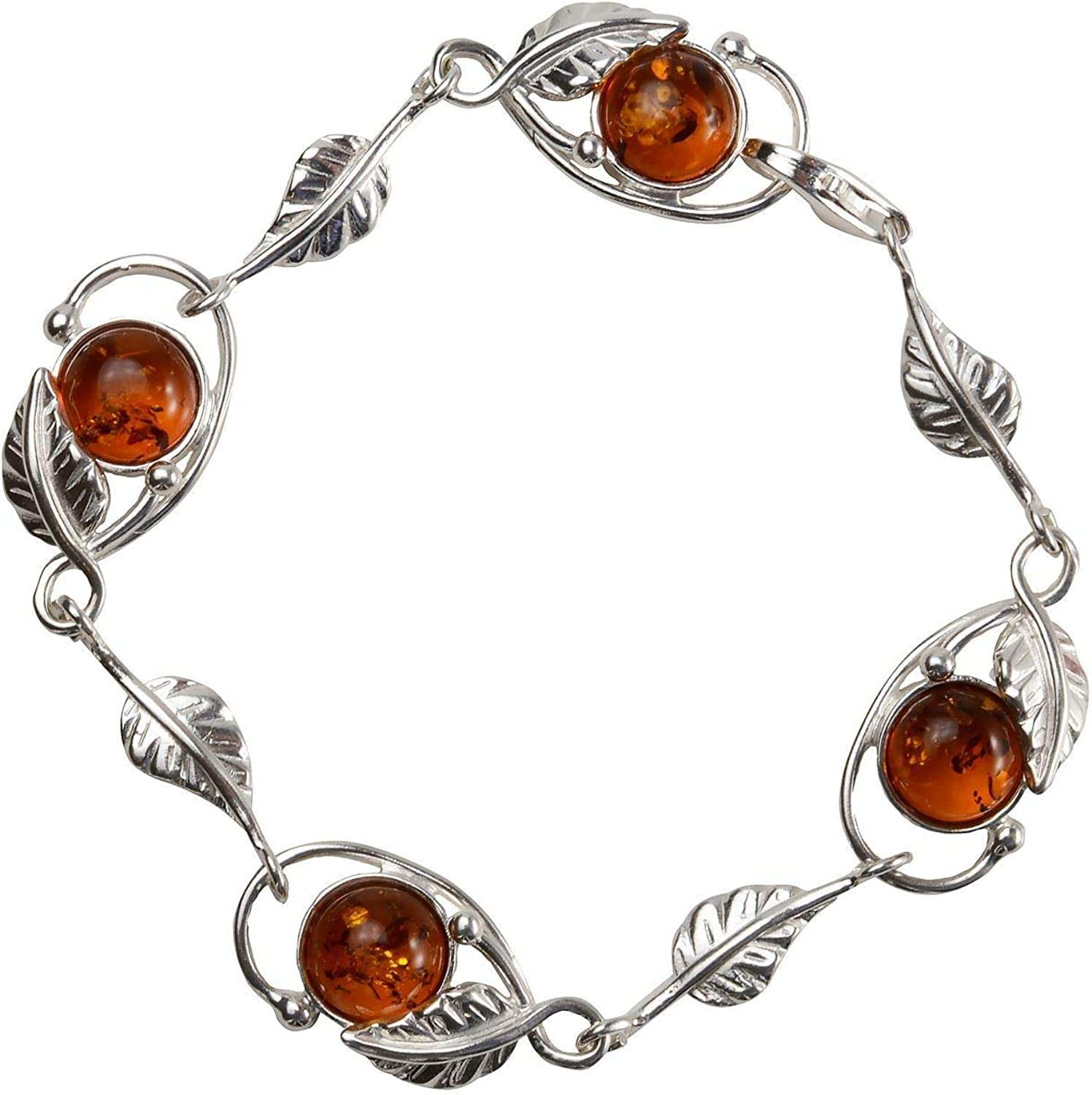 Necklace 925 Sterling Silver /& Baltic Amber Teddy Bear Necklace