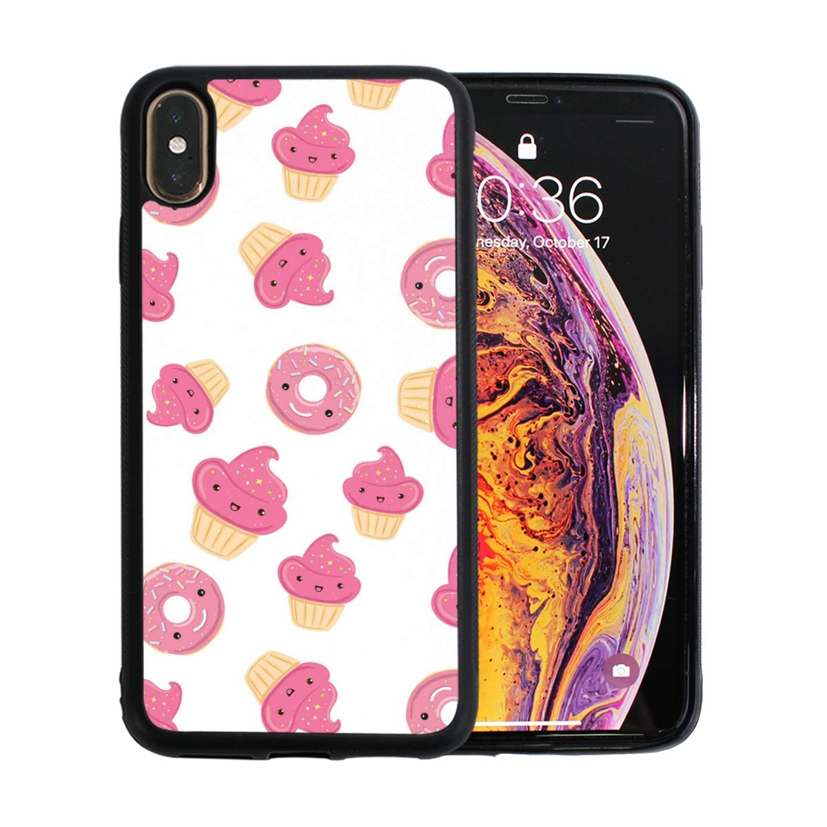 Pink Stars Cake Decorations Designed for Apple iPhone Xs MAX Case Scratch-Resistant Ultra-Thin Case