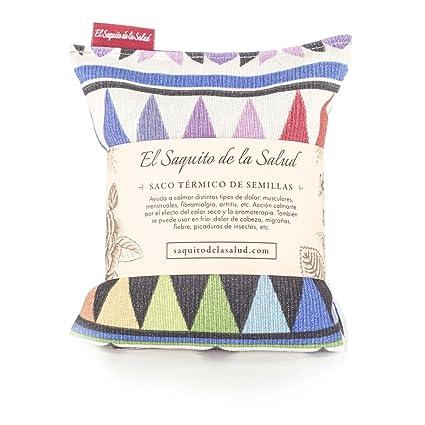Saco Térmico de Semillas aroma Lavanda, Azahar o Romero tejido Azteca (Azahar, 23_cm