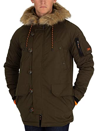 6a95970107248a Superdry Men's SDX Parka Jacket, Green at Amazon Men's Clothing store: