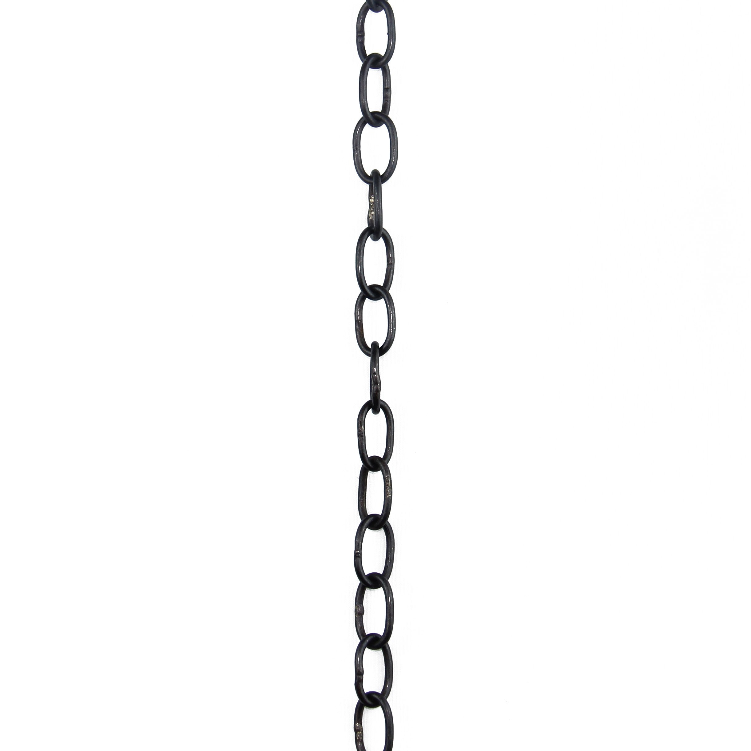 RCH Hardware CH-06W-OBB-3 Decorative Solid Brass Chain for Hanging Lighting Oval Welded Links (3 ft/1 Yard) (Oil Bronzed Black)