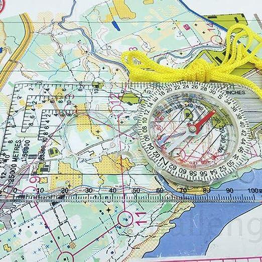 SUNSHINETEK Explorer Compass Navigation Exploración de Lectura de mapas con cordón para Lectura de mapas Supervivencia de Alpinismo Senderismo (declinación Ajustable, Impermeable): Amazon.es: Electrónica
