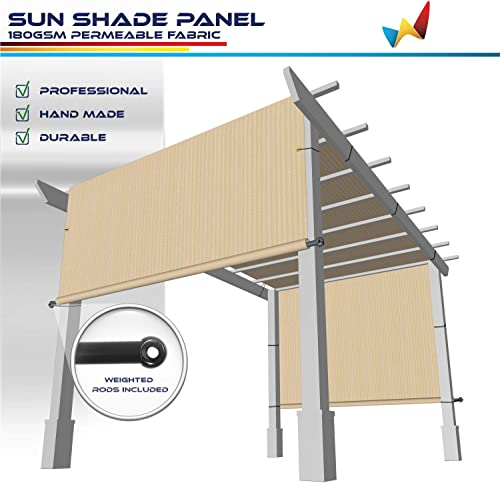 Windscreen4less 15 x28 Outdoor Pergola Replacement Shade Cover Canopy