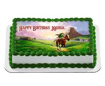 The Legend Of Zelda Quarter Sheet Edible Photo Birthday Cake Topper