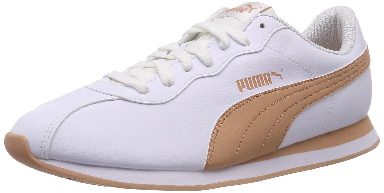 Puma Turin II, Scarpe da Ginnastica Basse Unisex – Adulto Bianco (Puma bianca-dusty Coral 07)   Il colore è molto evidente    Scolaro/Ragazze Scarpa