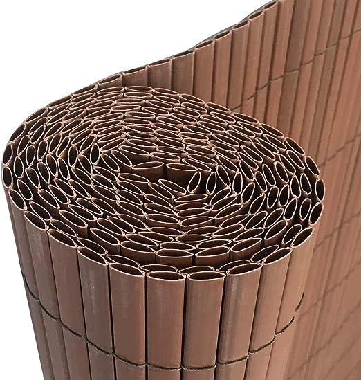 AUFUN Protection visuelle en PVC Canisse en PVC Pour Jardin Balcon et  terrasse - Marron 400x90cm