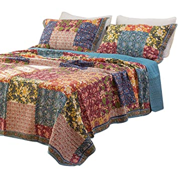 Patchwork Quilt Bedding Sets.Luckey1 100 Cotton Patchwork Bedding Sets Chic King Size Quilted Bedspreads Sets Bedroom Sets 3 Pieces Red Patchwork