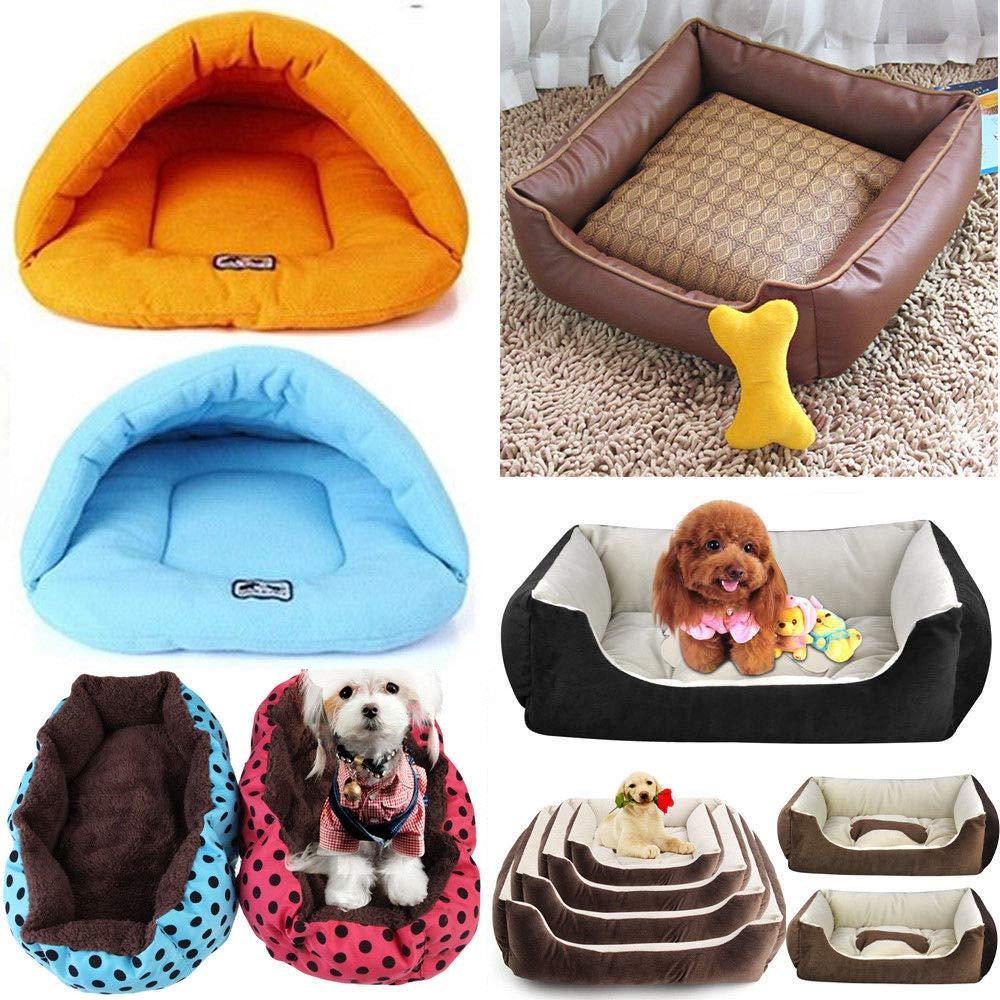 FidgetGear Pet Bed Cushion Dog Cat Warm Mat Soft Pad Nest Crate House Indoor Outdoor Lot S_2020cm 1@_Pink Bone