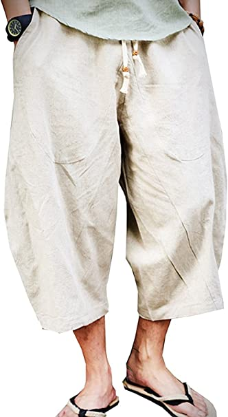 Men/'s Shorts Pants Baggy Loose Pants Movement Casual Cropped Trousers Overalls