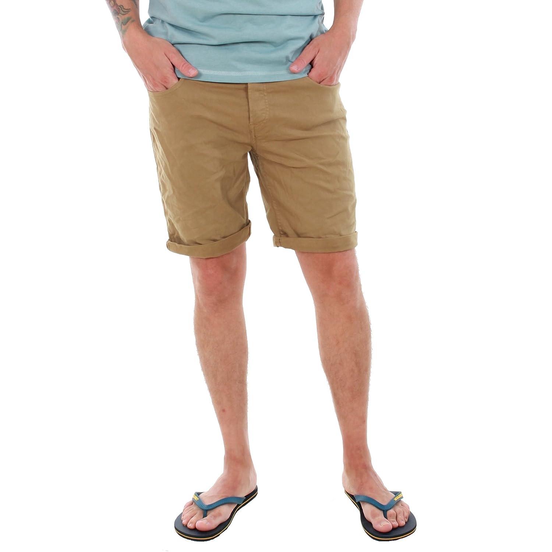 TALLA S. JACK & JONES Bermuda Hombre Marrón 12136647 JJIRICK Jjoriginal Shorts Knit AKM 481 Kelp