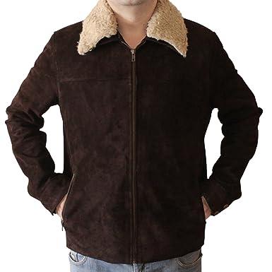 Men S Original Brown Suede Leather Jacket At Amazon Men S Clothing