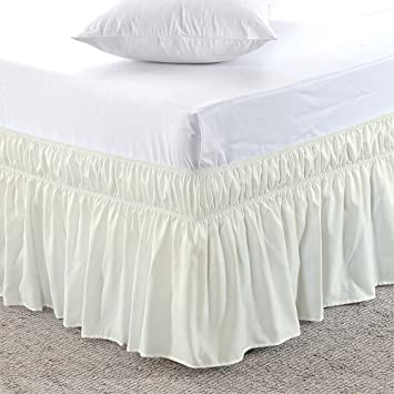 Bedroom Twin// Full Size Elastic Bed Wrap Ruffle Bed Skirt Relaxing Feeling For U