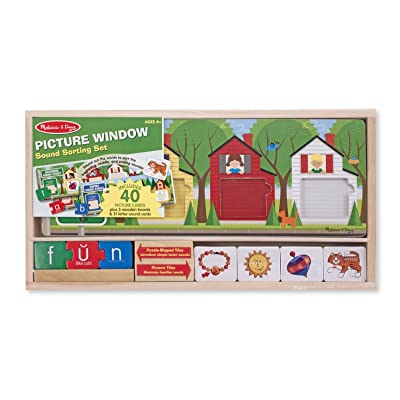 Melissa & Doug Picture Window Sound Sorting Wooden Activity Play Set: Melissa & Doug: Toys & Games