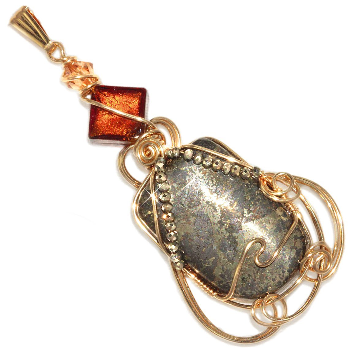 Gold Filled Wire Wrap Handmade Sterling Silver Tiger Eye Ring By Jandsgems Pyrite In Magnetite Healers Wrapped Pendant Puppylove Stone From Heaven And Earth