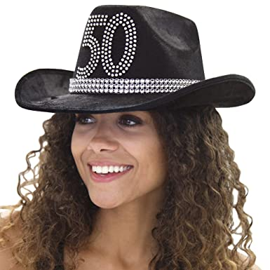 fdaec34be85a5 Country Western 50th Birthday Rhinestone Cowboy Hat - Cowgirl 50th Birthday  Party Decorations   Supplies -