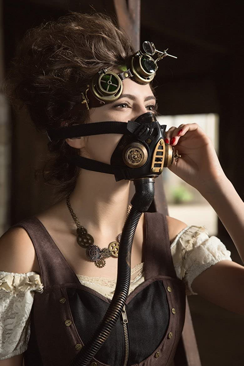 Steampunk Masquerade Ball Goggle Mask Doomsday Costume Prom Halloween Party