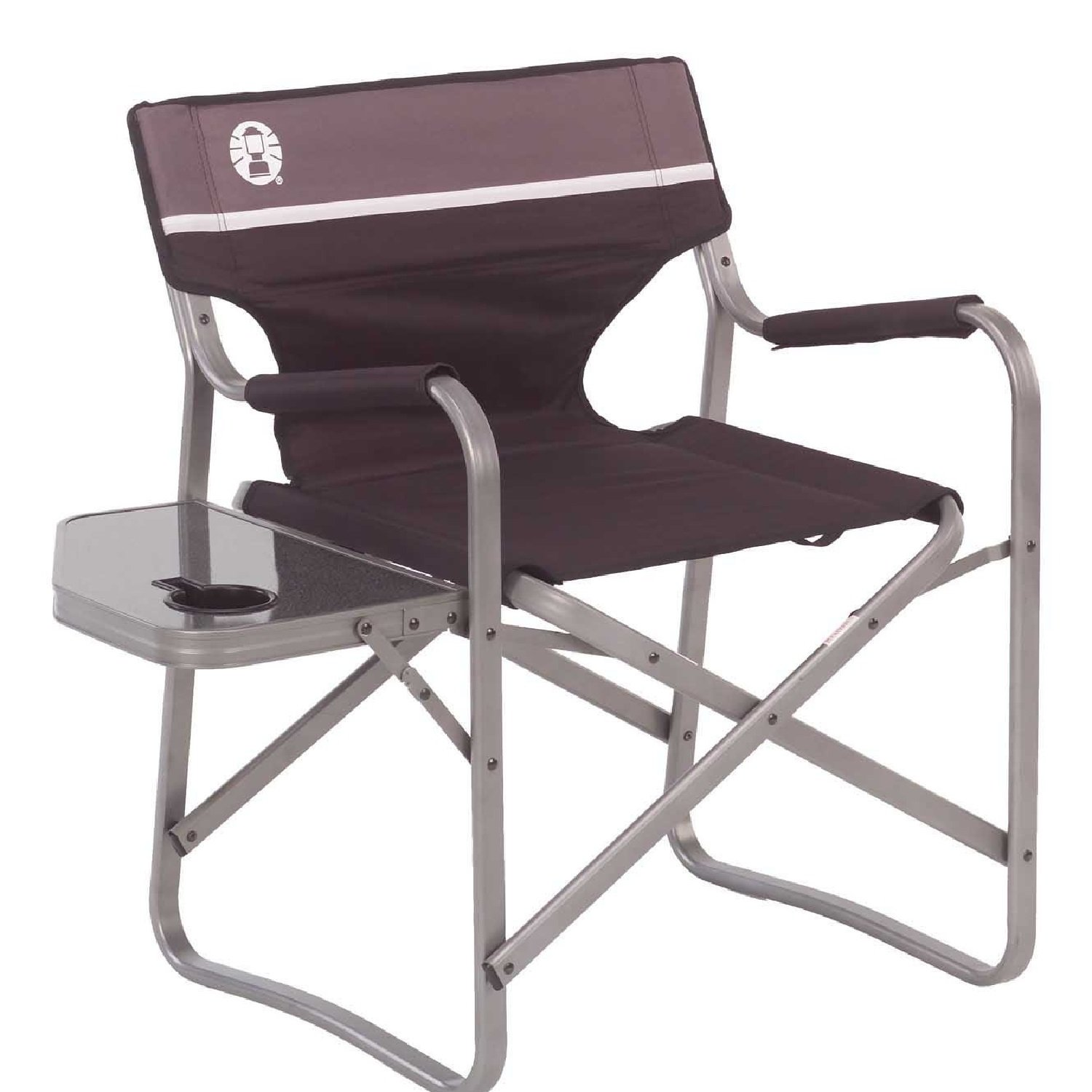 Amazon Coleman Portable Deck Chair with Side Table Camping