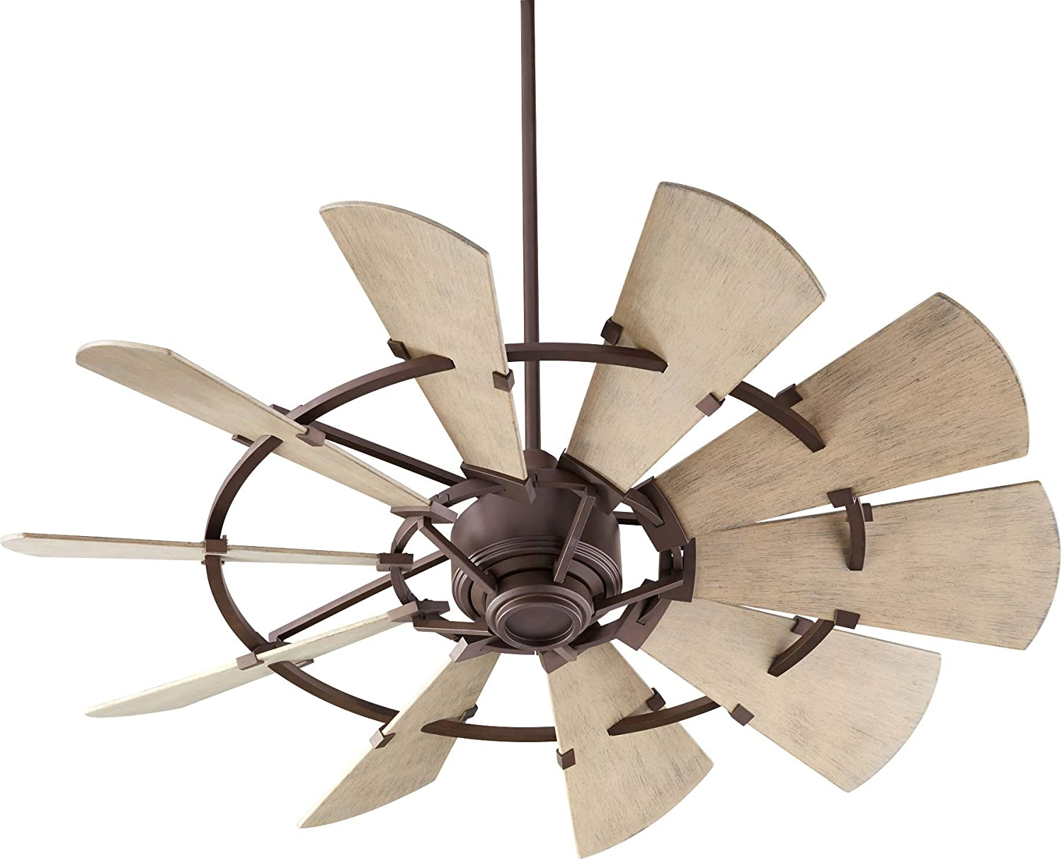 """Quorum 195210-86 Windmill 52"""" Ceiling Fan with Wall Control, Oiled Bronze"""