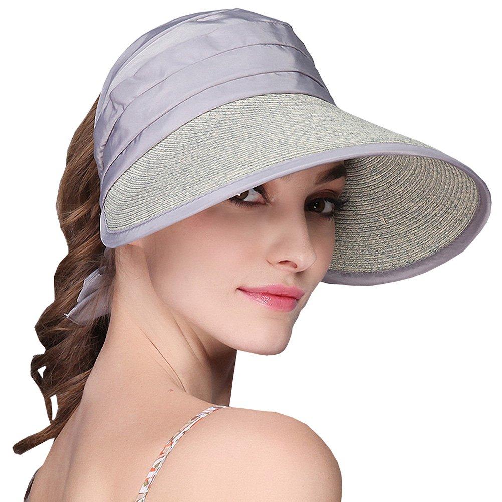 Maitose Trade; Women Foldable UV Protective Visor Hats Gray