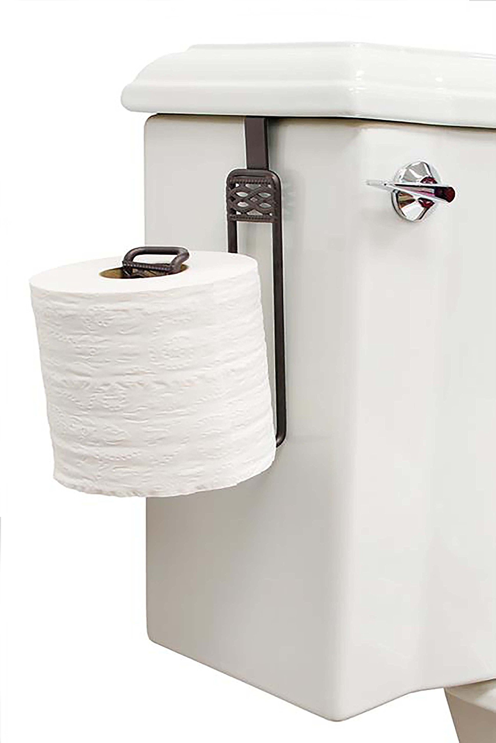 Bath Bliss Over-the-Tank Toilet Roll Holder, Rust Links