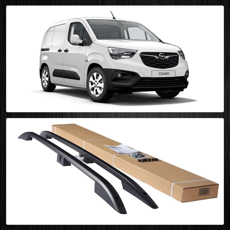 Bremer SitzbezÜge Aluminium Dachreling Dachgepäckträger Kompatibel Mit Opel Combo E Kurz Ab Bj 2019 Farbe Matt Schwarz Auto
