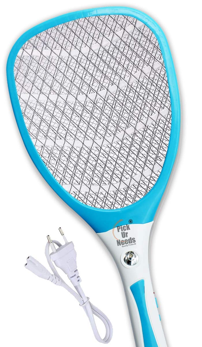 Pick Ur Needs® Rocklight High Range Mosquito Racket/Bat with Torch with Wire Charging - Mosquito Bat