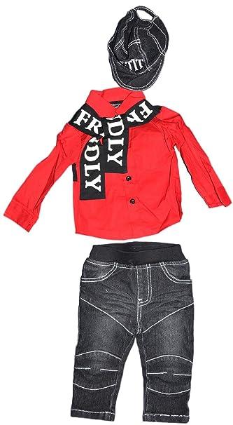 Chicaprie Conjunto bebé niño  Camisa 76462617e80