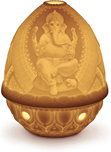 LLADR Lord Ganesha Lithophane. Porcelain Litophane.
