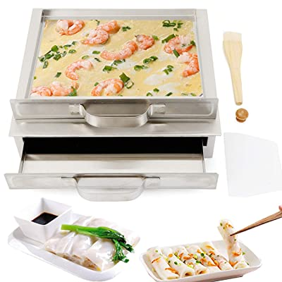 Buy Gdrasuya10 Rice Noodle Rolls Machine Steamed Vermicelli Roll Steamer Machine Chinese Cantonese Cuisine Cheung Fun Cookware Kitchen Food Container With Extra Drawer 1 Layer Online In Kazakhstan B08k7nb5ky