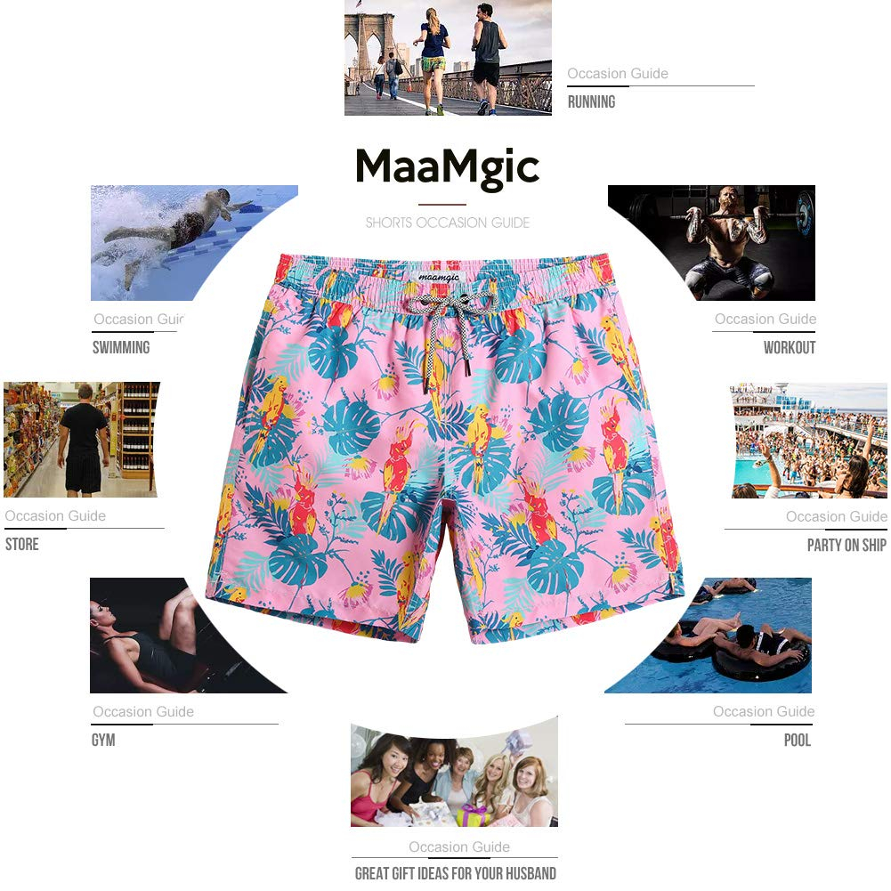 MaaMgic Mens Boys Short Swim Trunks Mens Bathing Suits Slim Fit Swim Shorts Quick Dry Swimsuit for Men
