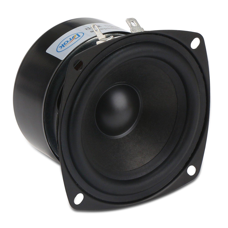 3 Inch Speaker, DROK 15W Antimagnetic Tweeter Speakers 3 Inch Round 8 Ohm HiFi Full-Range Speaker Strong Interference Immunity 52mm for DIY Audio Loudspeaker 8 Ohm Speakers