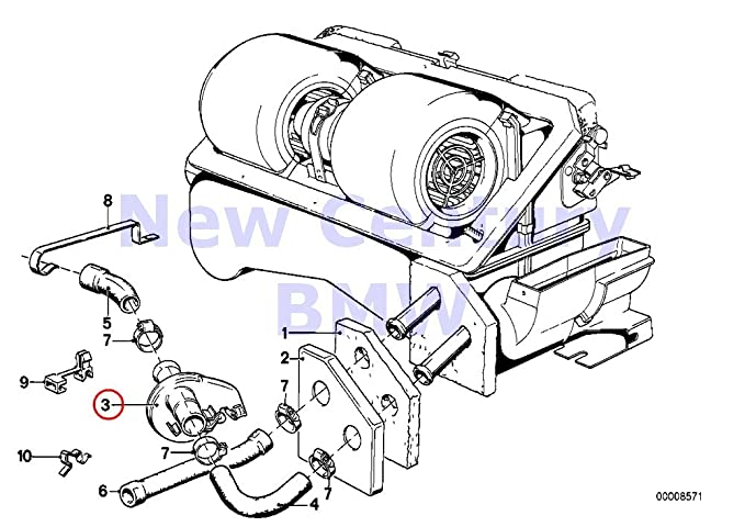 Genuine Bmw E21 Sedan Water Pump Water Valve Oem 64111366669 Amazon