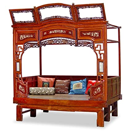 China Furniture Online Antique Bed, Ci-Xi Design Framed Bed Red - Amazon.com: China Furniture Online Antique Bed, Ci-Xi Design Framed
