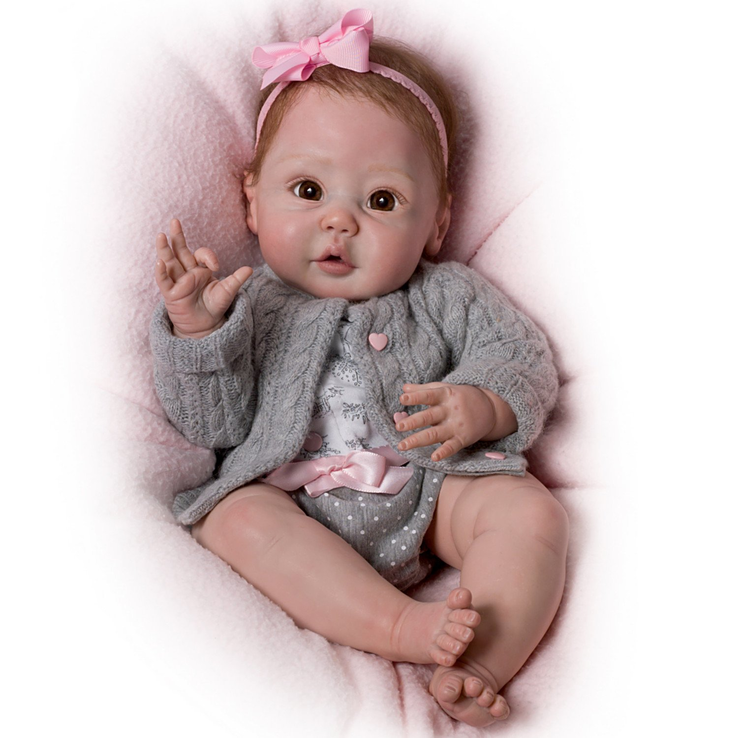 Cuddly Coo! Coos When Cuddled - So Truly Real® Lifelike, Interactive & Realistic Baby Doll 18-inches  by The Ashton-Drake Galleries by The Ashton-Drake Galleries