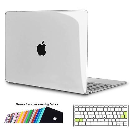 iNeseon Funda MacBook 12 Pulgada, Carcasa Case Duro y Cubierta del Teclado Transparente EU Layout para Apple MacBook 12 Retina Modelo A1534, ...