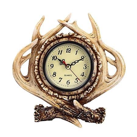 Yzibei Relojes de Mesa Vintage Vintage astas del Reloj de Tabla de ...