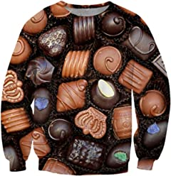 ZURIC Fashion Womens Mens Box Of Chocolates 3D Print Sweatshirt
