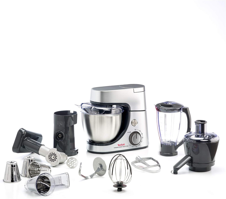 Tefal QB515D - Robot de cocina (4,6 L, Plata, 1,5 L, Acero inoxidable, 1100 W, 424,4 mm): Amazon.es: Hogar