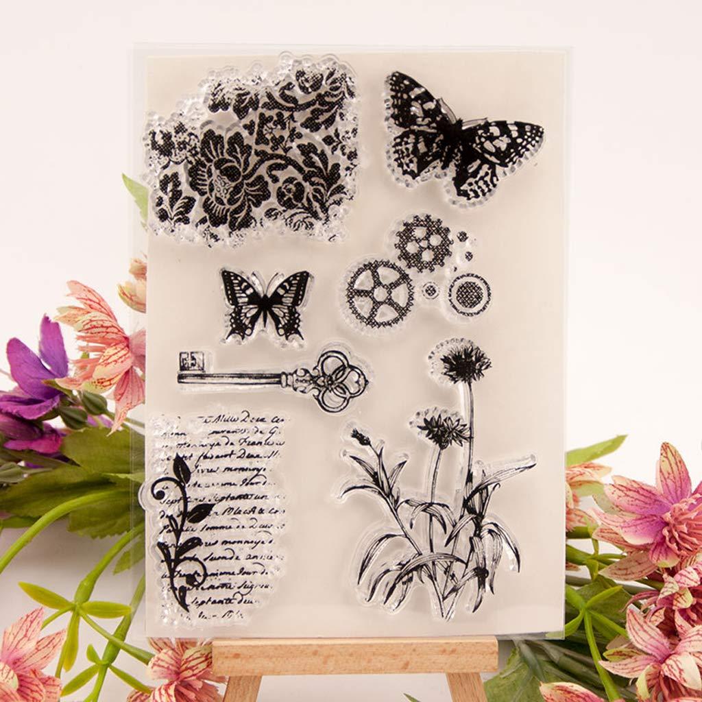 Sello de silicona transparente con diseño de mariposa, para ...