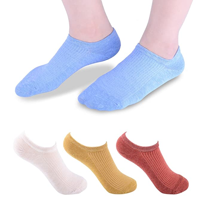 Vextrofort Calcetines invisibles de las mujeres, calcetines bajos del algodš®n antideslizante para los hombres de las mujeres 5 pares: Amazon.es: Ropa y ...